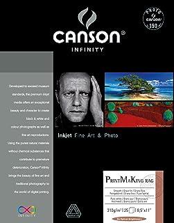 Canson Infinity PMK Printmaking Rag Fine Art Paper, 310 Gram , 8.5 x 11 Inch, 25 Sheets
