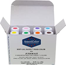 Food Coloring AmeriColor Soft - Gel Paste Junior Kit, 8 Colors.75 Ounce Bottles