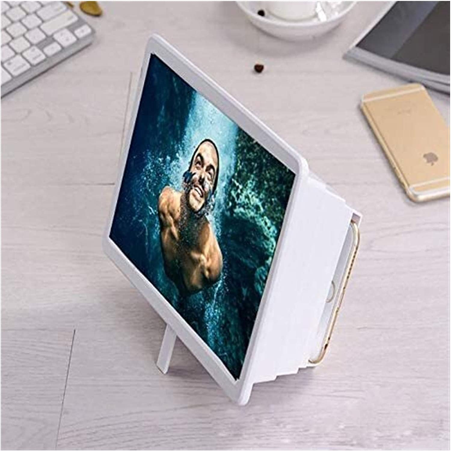 Portable Reading Courier shipping free Magnifier Mobile Unive High quality 3D Screen Phone