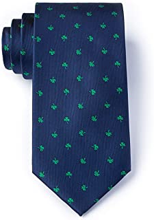 Men's Microfiber St Patrick's Irish Good Luck Shamrock Necktie Tie Neckwear