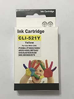 ink 521 y comptable with canon printer ip3600-ip4700
