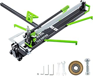 Mophorn 31 Inch Green Manual Tile Cutter w/Precise Laser Positioning & Anti-sliding Rubber Surface Single Rail Four Brackets Suitable for Porcelain and Ceramic Floor Tiles (31 Inch)