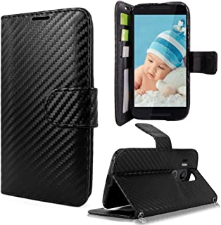 Nexus 5x Case, Google Nexus 5x Case, Cellularvilla [Slim Fit] [Stand Feature] Premium Pu Leather Wallet Case [Card Slots] [Wristlet] Book Style Flip Cover For LG Google Nexus 5x (Carbon Fiber Black)