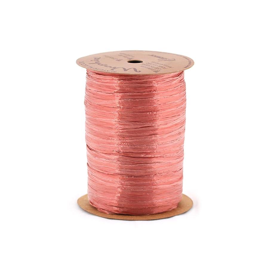 Berwick Wraphia Pearlized Rayon Craft Ribbon, 100-Yard Spool, Terra Cotta