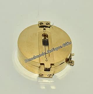 Nautical Maritime Solid Brass Surveyor's Compass Brass Compass