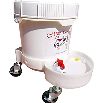Critter Concepts Dog Water Fountain Large Breed 3.5 Gallon– Automatic Water Dispenser for Thirsty dogs – Large Rolling Pet Waterer Dog Water Bowl, Anti-fall Indoor/Outdoor Self-dispensing Gravity Feed