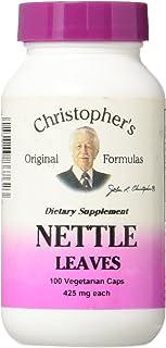 Christopher's Organic Nettle Leaves -- 400 mg - 100 Vegetarian Capsules