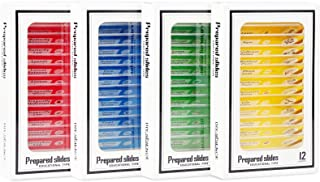 48 Pack Prepared Microscope Slides Collection, Insect Animal and Plant Specimens for Basic Biology Education and Science E...