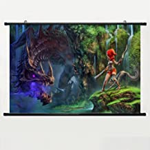 Eyor Home Decor Art Cosplay DIY Prints Poster with Dragon Fin Soup Wall Scroll Poster Fabric Painting 23.6 X 16.7 Inch (60...