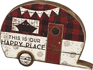 Primitives by Kathy Olive Green Box Sign Life is Best When Youre Camping