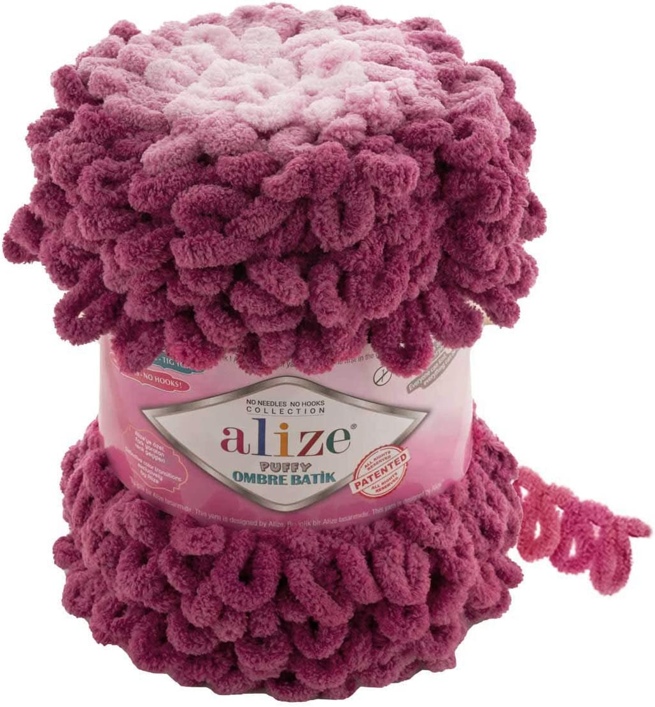Max 73% OFF Alize Puffy Ombre Batik Yarn 1 600 latest 61 YDS SKEÄ°N Micropolye GR