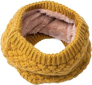 Webla 3 pcs Enfants et B/éb/é Unisexe Fille Gar/çon Automne Hiver Chaude Bonnets de Pompom /écharpe de Sourire Gants Ensemble pour 3-10 Ans TM Jaune