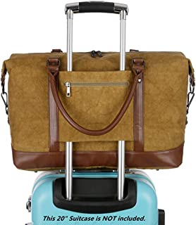 BAOSHA Canvas Travel Carry-on Bag Weekender Overnight Bag Travel Tote Duffel Bag for Men and Women HB-37 (Tie-Dyed Yellow)
