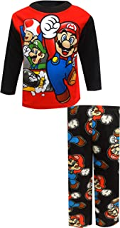 Super Mario Brothers Boys' Nintendo 2-Piece Pajama Set
