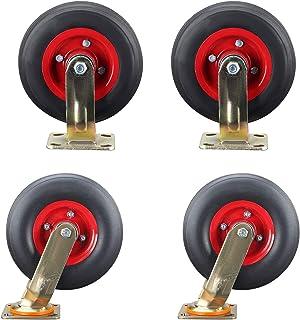 YJJT Rubber zwenkwiel, vervangende zwenkwiel, met 360 graden bovenplaat en dubbele lagers, weerstand tegen slijtage en dru...