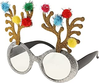 IPOTCH Novelty Glitter Christmas Reindeer Glasses Xmas Party Adult Kids Fancy Dress