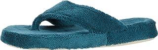 Acorn Women's Spa Thong with Premium Memory Foam Slipper, Peacock, LG (US Women's 8-9) M