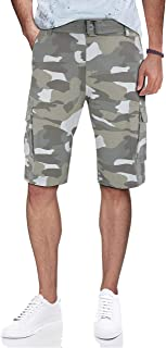 RAW X Cargo Shorts for Men Casual Classic Fit Mens Cargo Shorts with Belt