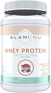 Alani Nu Whey Protein Powder, 23g of Ultra-Premium, Gluten-Free, Low Fat Blend of Fast-digesting Protein, Fruity Cereal, 3...