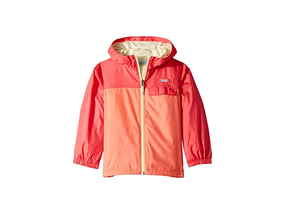 Columbia Kids Mountain Side Lined Windbreaker (Little Kids/Big Kids) (Hot Coral/Bright Geranium/Lime Freeze) Girl