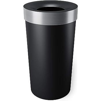 Amazon Com Safco Products 9639bl Open Top Dome Trash Can 15 Gallon Black Home Kitchen