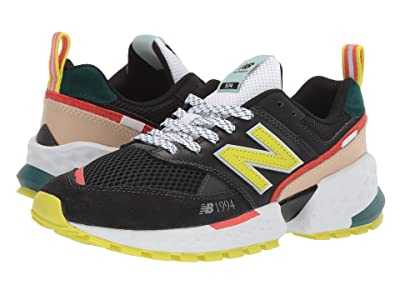 New Balance Classics MS574Av2 (Black/Sulphur Yellow) Men