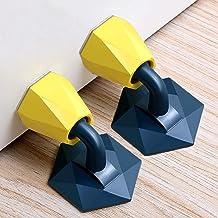 Set van 2 deurstoppers, deurstopper, muur, crashpadbescherming, siliconen deurstopper, zelfklevend deurslot antibotsing, m...