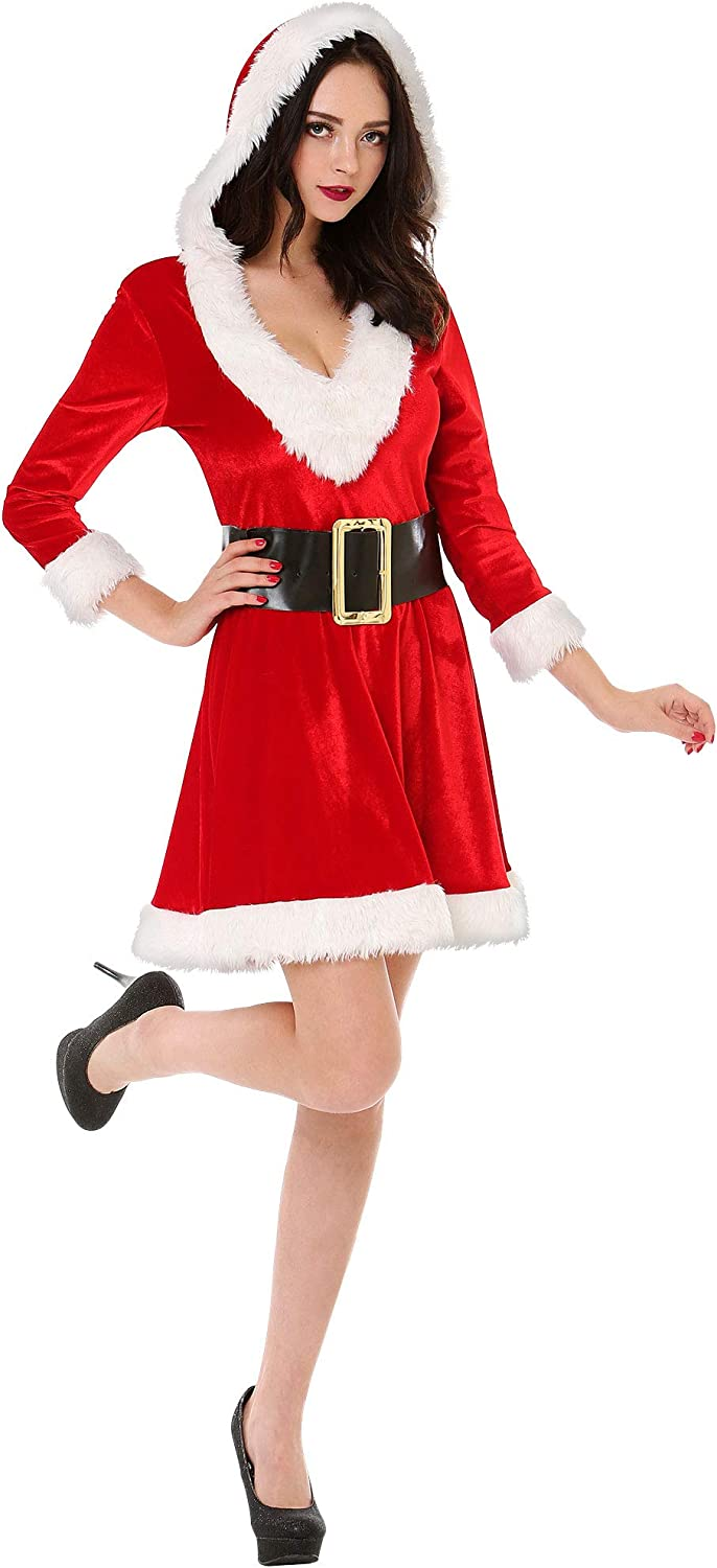 Mistress Claus Attention brand Womens Christmas Costume Max 72% OFF Party Sexy Santa –