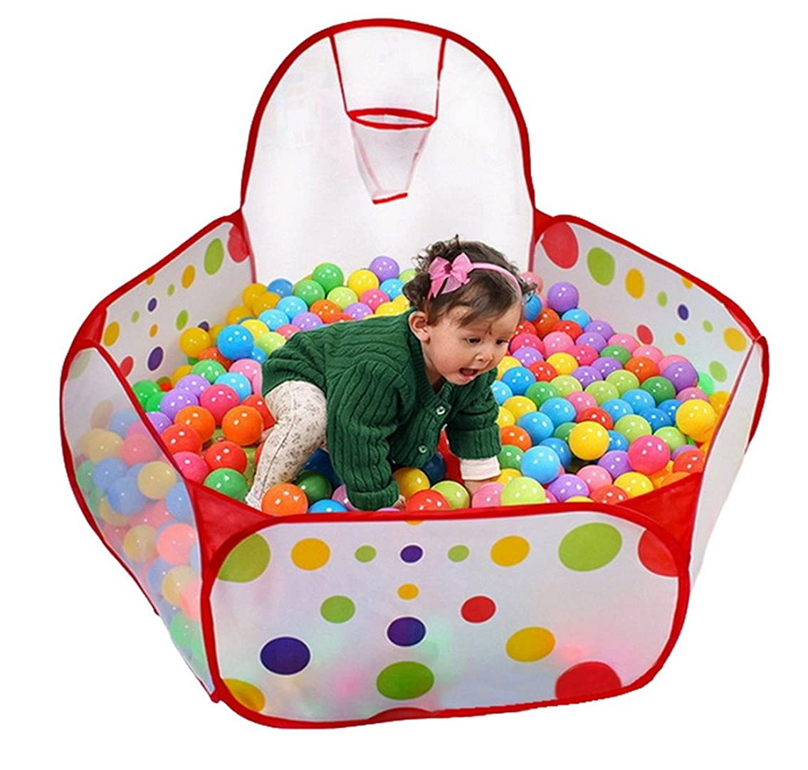 切り刻む周囲ハウジング(ビグッド)Bigood 子供 水玉柄 ボールプール プレイハウス 折り畳み式 おもちゃ 知育玩具 屋内遊具 ボールハウス プレゼント(タイプB?90)