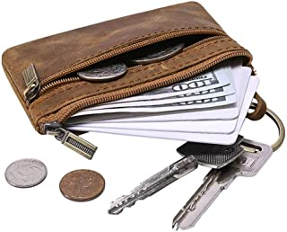Men's Coin Purse, Genuine Leather Change Purse, Mini Cash Wallet Perfect Christmas Gift for Father Husband GJB31-2