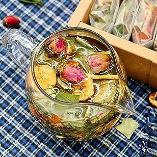 Blooming Tea – Mixed Fruit Flowering Lemon Teas – Chinese Organic Natural Flora Herbal Tea Convenient Caffeine Free Detox Tea (Hawthorn lotus leaf tea)