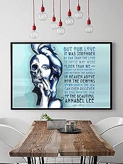 Annabel Lee Poster Print - Edgar Allen Poe Poster - Edgar Allen Poe Wall Art - Literary Art Poster Print - Romantic Gift for Her - Romantic Poster Print - Romantic Wall Art - Poster for Bedroom