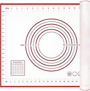 POOPHUNS Tapis de Cuisson Silicone,70 x 50cm Tapis à Tâtisserie avec Mesure,Tapis à Pâtisserie en Silicone antidérapant et...