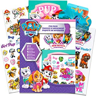 Paw Patrol Party Favors Pack -- Paw Patrol Stickers, Temporary Tattoos, Posters and More (Skye Paw Patrol Party Supplies for Girls Kids)