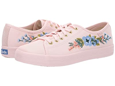 Keds x Rifle Paper Co. Kickstart Embroidered Herb Garden (Blush) Women