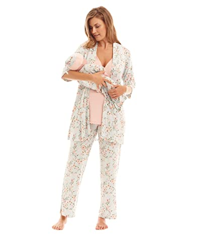 Everly Grey Analise Maternity/Nursing Mommy Me Five-Piece PJ Set (Cloud Blue) Women