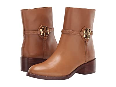 Tory Burch 45 mm Miller Bootie (Dark Tiramisu) Women