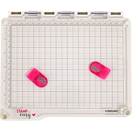 Vaessen Creative 2137-033 Stampe Easy Platform, Plastique, Blanc/Transparent, 23,5 x 20,5 x 1,8 cm