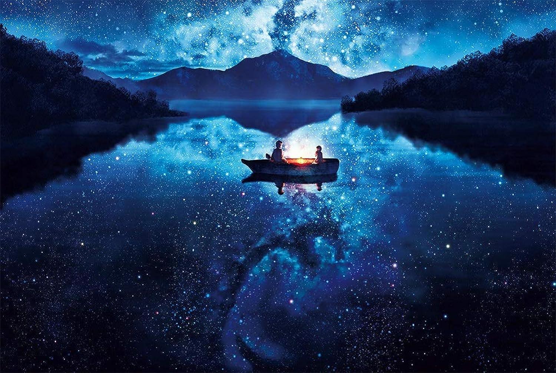 SUNYU? ファンタジー 1000ピース 湖に浮かぶボート 星空 夜景 ロマンティック スウィートハート 恋人 アート フォト 大人用ゲーム 木製ジグソーパズル