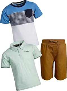 Ben Sherman Boys 3-Piece Polo, T-Shirt, and Short Set (Toddler/Little Boys)