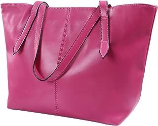 HDE Womens Leather Tote Bag Carryall Handbag Purse