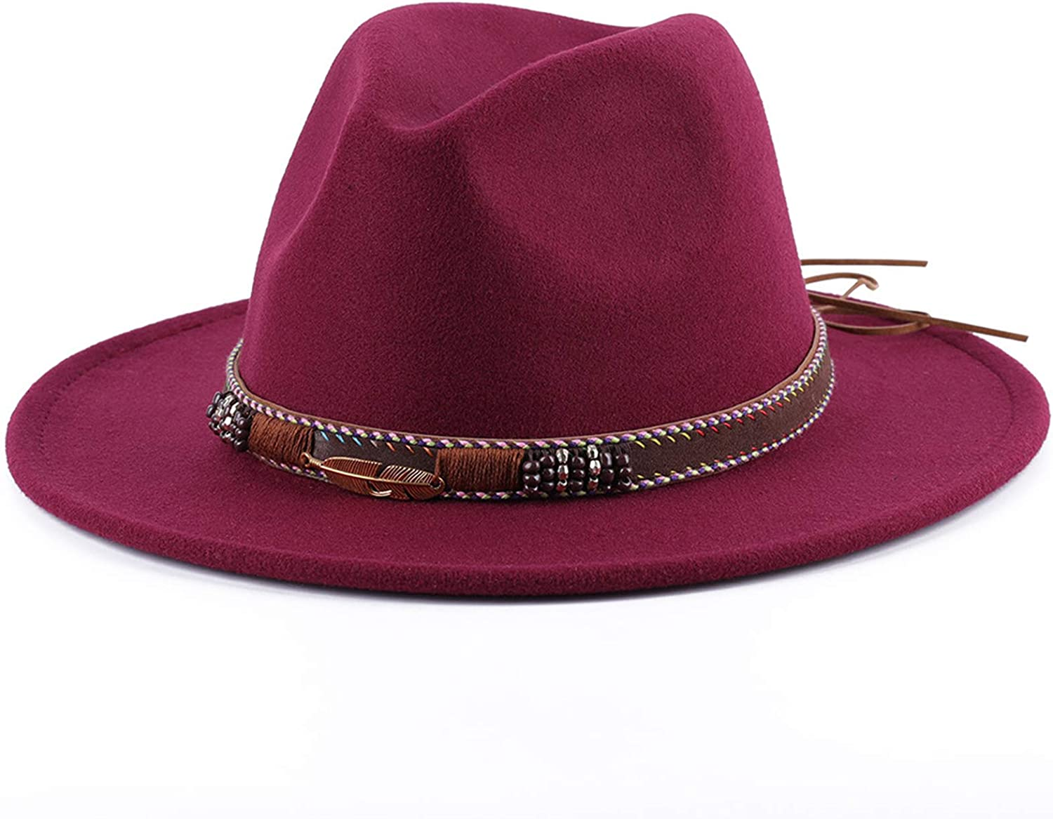 VIREO Cowgirl Hat, Fedora Hats for Women,Autumn and Winter Big Brim Hat