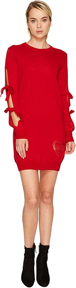 LOVE Moschino - Long Tie Sleeve Sweater Dress