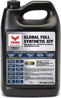 Triax Global Synthetic ATF - OEM Grade for Honda DW-1, Allison TES 295, BMW, Audi, Mercedes Benz, VW, Honda DW1, Toyota, ATF +4, Ford Mercon V/LV, Dexron VI, Nissan, ZF 6HP (1 Gallon)