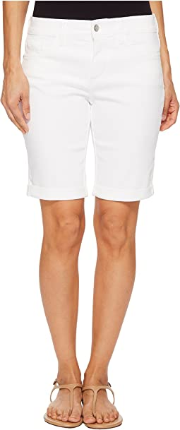 NYDJ Petite Petite Briella Roll Cuff Shorts in Optic White