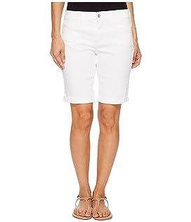 Petite Briella Roll Cuff Shorts in Optic White