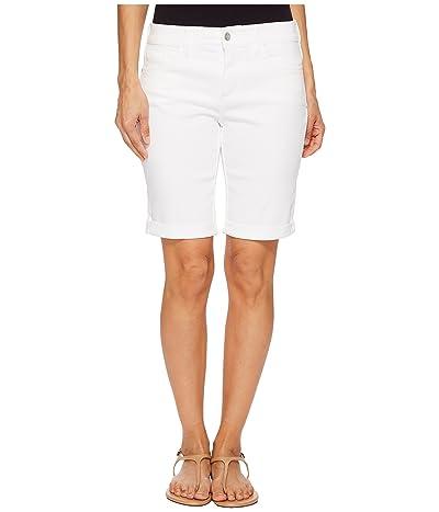 NYDJ Petite Petite Briella Roll Cuff Shorts in Optic White (Optic White) Women