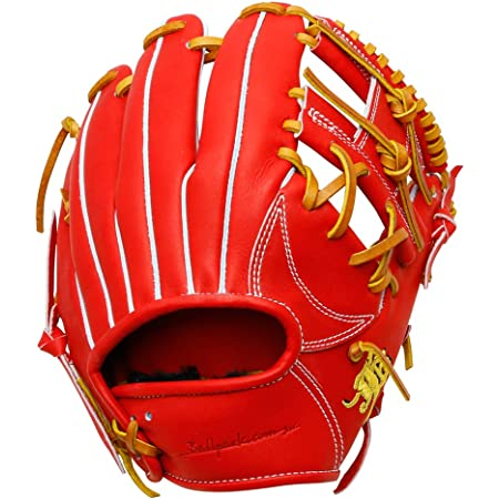 JB 日本製 黒毛和牛 和牛JB 硬式 グローブ グラブ 内野手 二塁手 遊撃手 和牛 JB-004S パワーオレンジ R(右投用)