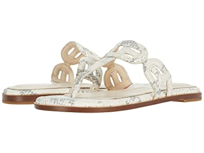 Cole Haan Anoushka Sandal (Natural Chalk Python Print Leather/Natural Heavy Stitch) Women