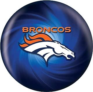 KR Strikeforce Denver Broncos Bowling Ball, Navy Blue/Silver/White, 12 lb